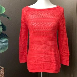 LOFT Open Knit Sweater